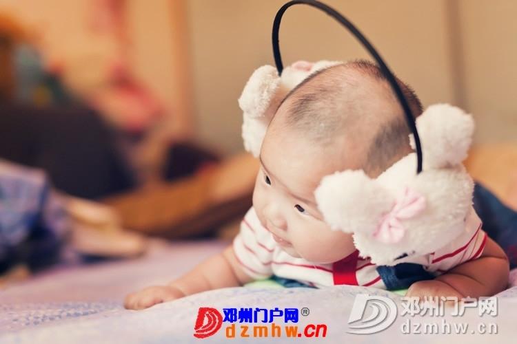 同事帮我在家给我女儿拍的写真,4个月大。挺给力的阿 - 邓州门户网|邓州网 - 170488_7b851375930695de44f9a69ad99ae.jpg