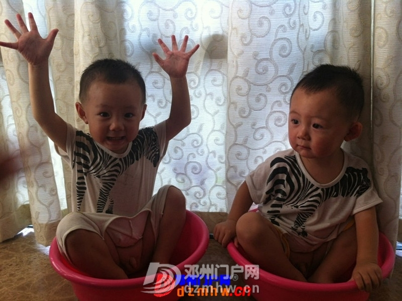 我家可爱的双胞胎宝宝,家里有两个在活宝,生活如此的多娇呀 - 邓州门户网|邓州网 - 325603_418713767159502556c48f546461a.jpg