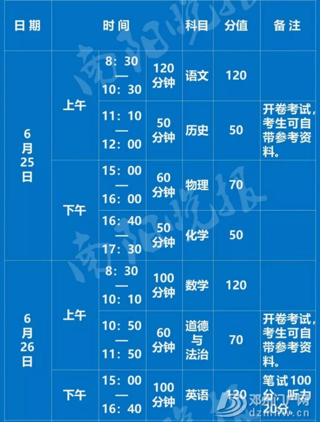邓州2019年中考时间表及考点信号屏蔽公告 - 邓州门户网|邓州网 - 6402.webp4.jpg
