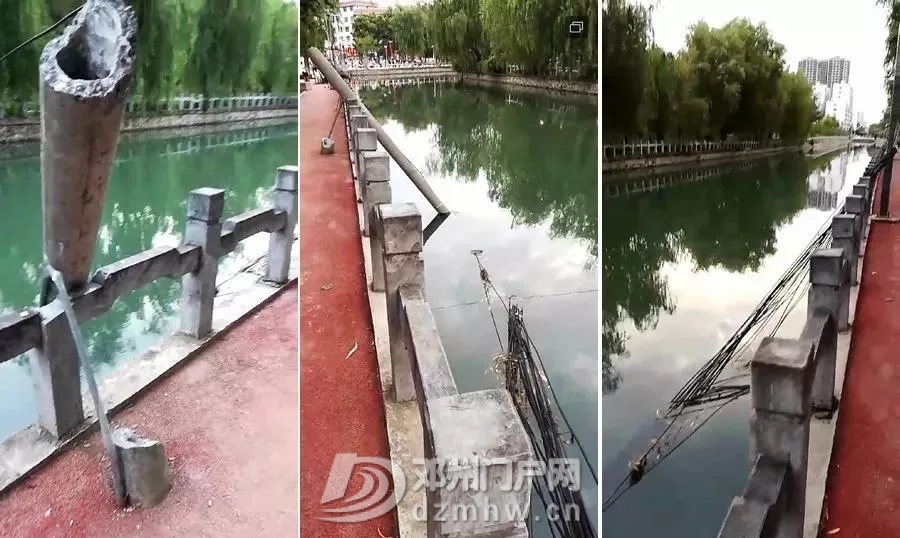 危险!邓州这个护城河里,有电线杆,还有电线泡着。 - 邓州门户网 邓州网 - 6401.webp.jpg
