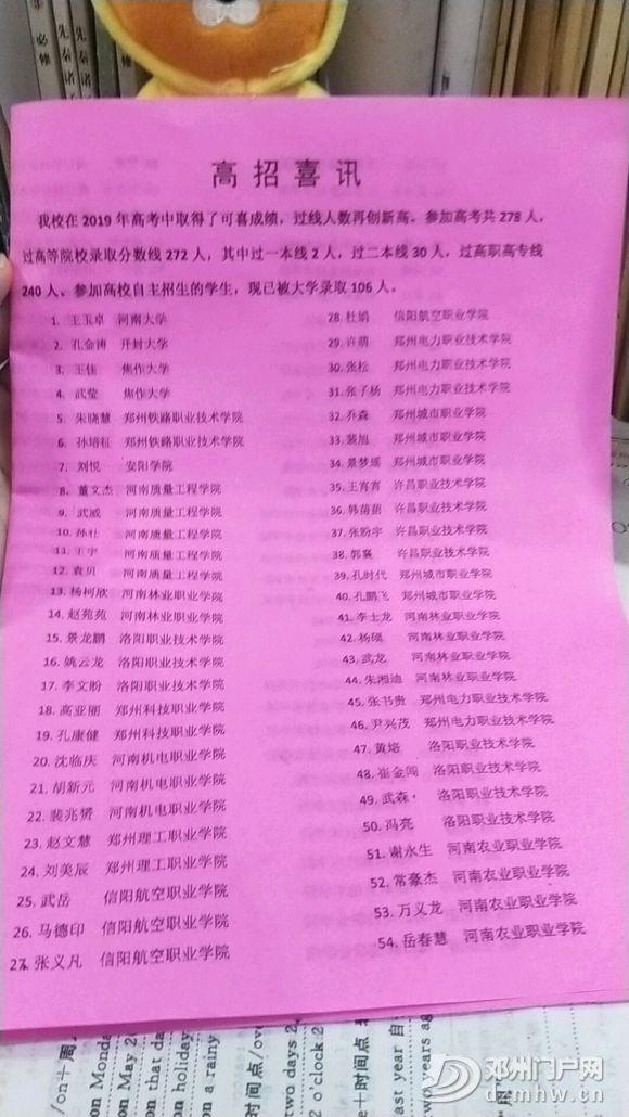2019邓州市五高中单招考生佳绩 - 邓州门户网|邓州网 - 640.webp7.jpg