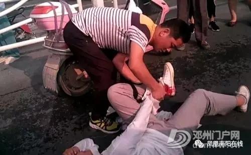 事发邓州古城南路,一女子被撞的流血不止... - 邓州门户网|邓州网 - 640.webp83.jpg