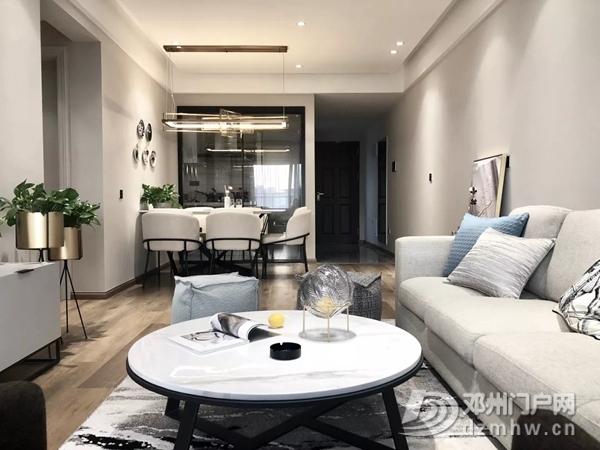 这款115平的现代简约风三居室,用原木和灰色打造舒适感! - 邓州门户网|邓州网 - 115平米现代简约三居室效果图1.jpg