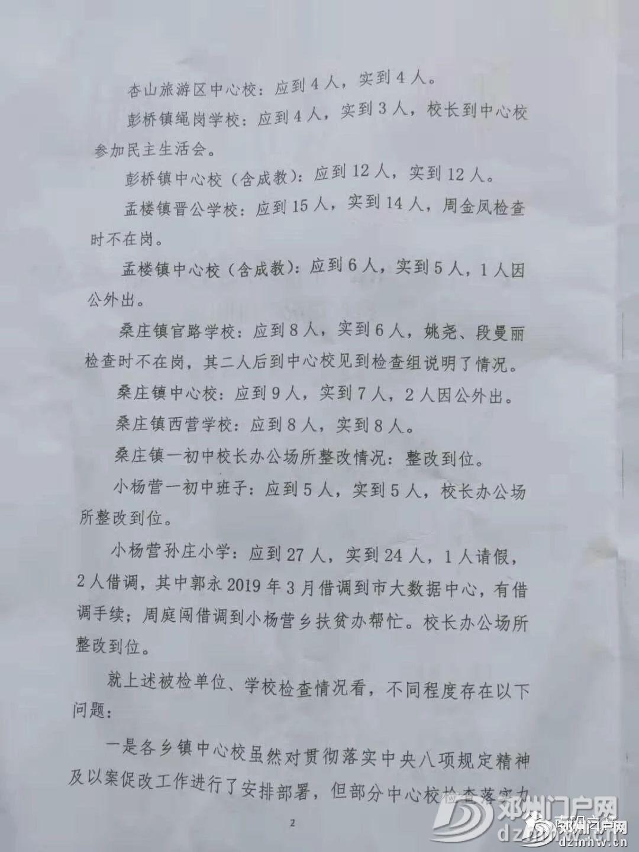 邓州教体局关于系统内部分单位学校正风肃纪监督检查情况的通报 - 邓州门户网 邓州网 - 1e207f35cd2fe1e2c77f2e48155fd4c2.jpg