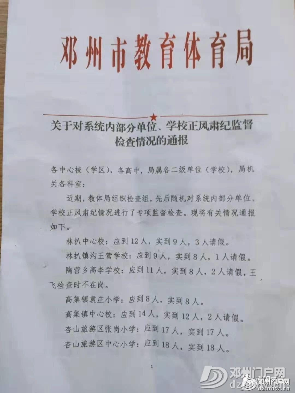 邓州教体局关于系统内部分单位学校正风肃纪监督检查情况的通报 - 邓州门户网 邓州网 - f9977dd547ab08d5bc7634f5c8afd2e8.jpg