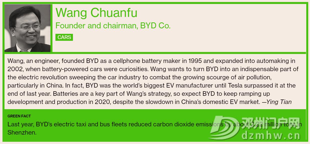 彭博社发布全球环保先锋榜 上榜中国车企领导只有他 - 邓州门户网|邓州网 - 图片2.png