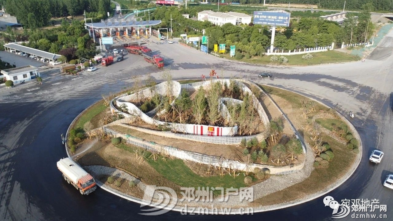 最新实拍!邓州高速口大转盘已建成 - 邓州门户网 邓州网 - 7b4492443dae3cc7af6926e4810f4065.jpg