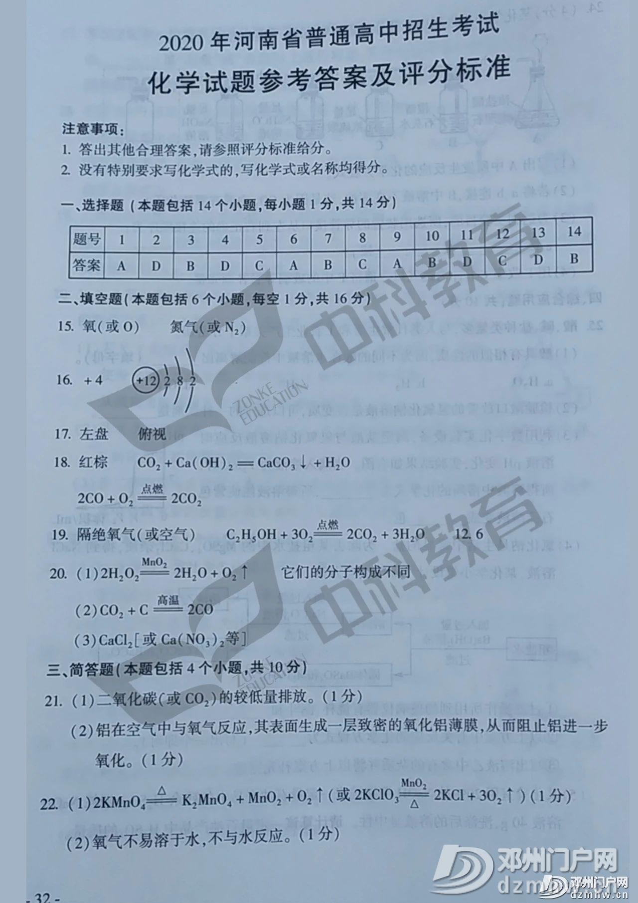 最新!邓州2020年中招各科试题及答案公布,请转发给身边的初三学生家长! - 邓州门户网|邓州网 - c7f5245d85bfe2f73109b349cc9b2d3a.jpg